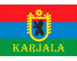 Флаг Карелии (Герб+Karjala)
